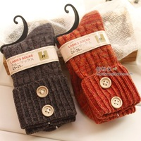 84 needle double thick socks vintage 100% cotton sock female socks multicolor