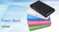 20000mAh Dual USB Power Bank Backup Battery External Battery Charger for iPhone iPad HTC Samsung Nokia Mobile Phone