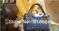 Hot selling 2013 New Fashion Rivet Shoulder Bag Casual Female Bag Messenger Bag For Lady