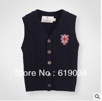 free shipping wholesale Autumn children's clothing male child fashion british style sweater yarn shirt children sweater vest