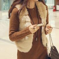 Plus Size Faux Rabbit  Fur Women's  Clothes Coat  Womens' vest