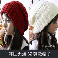 2014 winter and spring Lovely wool bonnet han knitted cap female 8color 1pcs Free Shipping