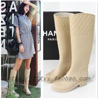 Thin women's fashion rainboots rain boots stovepipe tall boots rainboots 2