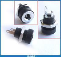 10pcs Copper 3A 3.5mm x 1.3mm DC Socket Power Charger Plug Panel Mount Screw Nut