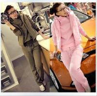 Free shipping hot Sale 2013 Winter Fleeces Sports Suits Women's set Hoodies+Pants+Vests Three-Piece Suit sweatershirt
