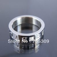Free shipping!! Wholesale with stone Titanium steel  Classic ring  R030W