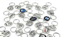 Refinement Hollow metal Car logo key chain Key ring With logo 20 models of car standard