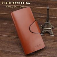 free shipping Wallet men's wallet male long design male wallet genuine leather wallet