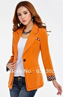 Autumn elegant women's all-match slim waist slim casual outerwear blazer suit Free shipping