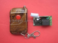 Small volume 315m 12v single wireless remote control switch cherry wood one button remote control