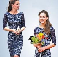 Hot-selling kate princess half sleeve lace dress elegant slim one-piece dress ol free shipping