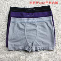 2014 UNNO Male Sexy Boxers 1 Pcs Eamless Elastic Cotton Underwear 4 Colors M