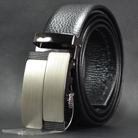 Best Quality New Exquisite Alloy Automatic Buckle  Sided First Layer Leather Men's Belt Father Christmas Gift Free Shipping