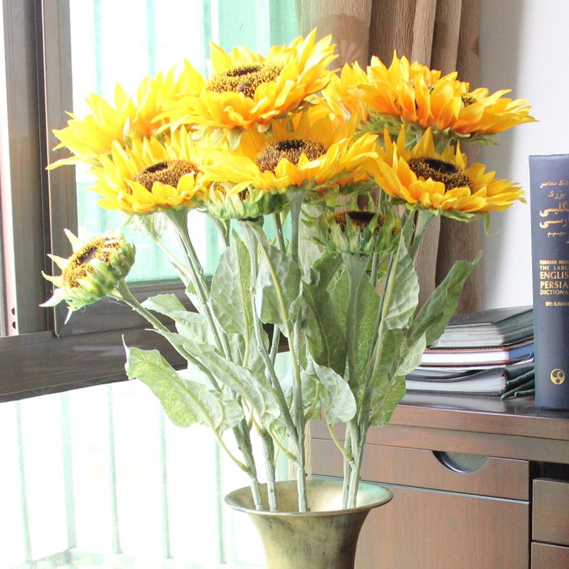 Artificial Flower 9 Sunflower Home Office Desk Coffee