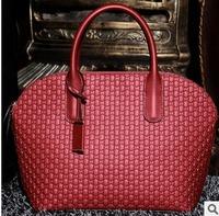 Free shipping Luxury genuine leather handbag Girls / women's embossed tote bag  Messenger bag fashion  casual all-match
