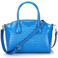 Free shipping Luxury genuine leather handbag Crocodile pattern shoulder bag Girls / women's tote bag  fashion casual all-match