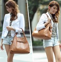 Free shipping Luxury genuine leather handbag Girls / women's tote bag Shoulder bag elegant intellectuality fashion elegant