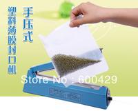 8pcs/lot SF-300 Hand Sealer Impulse Heat Manual Seal Machine Plastic Poly Bag Closer Kit Sealing Length 30cm Free Shipping