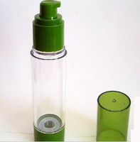 30ml /50ml Airless Cosmetic Bottle Lotion Bottle with Green Cap  Portable Refill Bottle