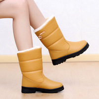 Snow boots waterproof platform boots medium-leg women's shoes 1111 boots