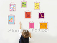 New 2013  Removable Vinyl Wall Stickers Home Decor Colorful Hanging Frame Wall Decals Mural Art For Nursery Kids Room