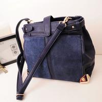 Women's handbag 2014 sachet bags duomaomao brief nubuck leather bags messenger bag big bag