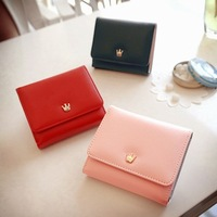 Women's short design wallet female 2013 tri-fold wallet card holder coin purse  Free shipping