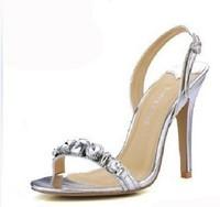 2013 bohemia women's shoes silver rhinestone banquet high-heeled sandals