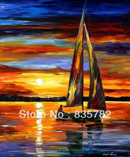 Sea Knife Boat Canvas 60cmx50cm Sea Boat