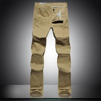 2014 Fashion Men's Stylish Designed Straight Slim Fit Trousers Casual Long Pants Plus Size 28-46+ free shipping 8610