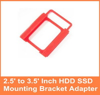 HK POST Free Shipping  2.5 to 3.5 Inch HDD SSD Mounting Bracket Adapter for PC 5pcs/lot