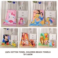 Hot Sale Retail  children's bathrobes/Cute cartoon bath towel 100%cotton hand face/Blanket kids child bath beach towel Princess