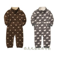 Baby clothes baby boy romper bodysuit polar fleece fabric zipper style stand collar berber fleece jumpsuit