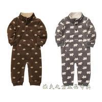 New 2014 Carters Baby boy Clothing Rompers Fleece longsleeve Newborn-24m kid winter autumn jumpsuit slee