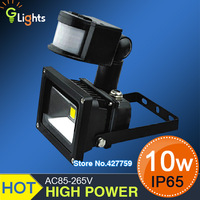 10W PIR Motion detective Sensor LED Floodlight Outdoor LED Flood LED Flash Lamp Light warm white/Cold white