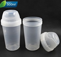 500ml Plastic Mask Bottle Cosmetic Bottle Mix Cup with Screw Cap Hair Gel Bottle for Salon Skin Care Tool