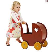 Wooden Toys For Children MOOVER Brand Red Heart-Shaped Children's Toys Stroller Children Walkers Free Shipping