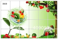 Free shipping big size flower wall sticker kitchen oil sticker  - fruit style