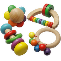 Free shipping Baby wood rattles, yakuchinone 3 1 baby toy  --support wholesale