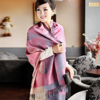 2013 spring and autumn women's bohemia cotton long scarf plus size cape dual