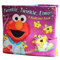 Free shipping Nighty-night three-dimensional sesame street softplay cloth books elmo baby  --support wholesale