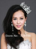 2013 New Arrival Diameter:11.5cm Factory price top rhinestone bridal tiara wholesale wedding crown jewelry