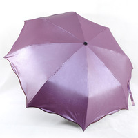 Solid color sun umbrella anti-uv umbrella 2013