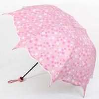 Exquisite ruffle anti-uv sun protection umbrella 2013 umbrellas