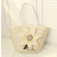 Sunflower straw bag flower knitted beach bag hot-selling fresh vintage gentlewomen quality product