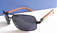 2014 Free shipping fashion metal sunglasses new design Wood Temples model 151