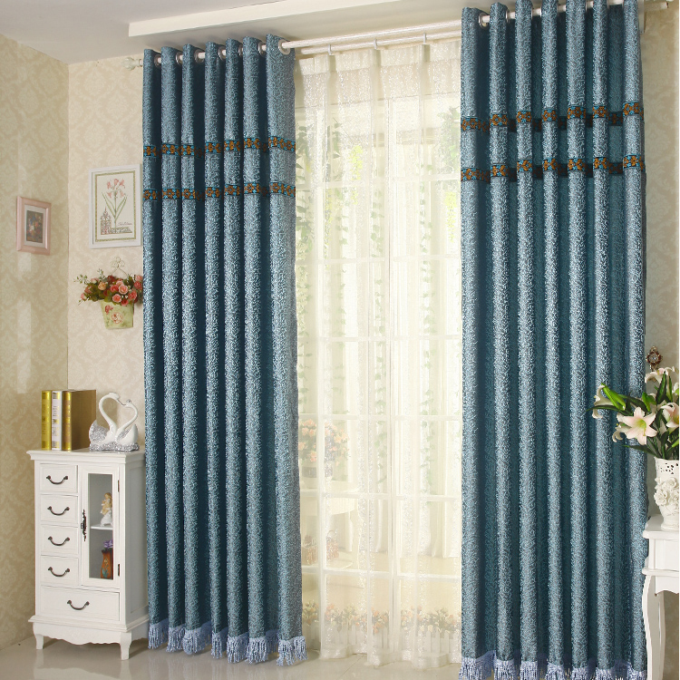 blue bedroom curtains promotion online shopping for