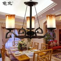 Fashion rustic pendant light lighting lamps wrought iron pendant lamp living room lights ch028-3
