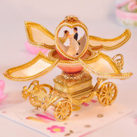 European royal egg carving open the music box creative wealth wedding birthday present for girlfriend friend