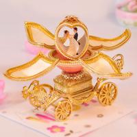 European royal egg carving open the music box creative wealth wedding birthday present for girlfriend friend